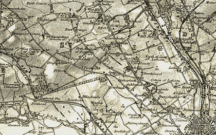 Old map of Woodville Ho in 1907-1908