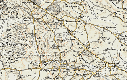 Old map of Woodwall Green in 1902