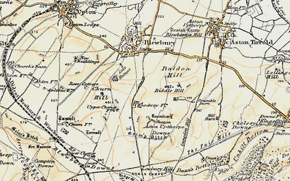 Old map of Langdon Hill in 1897-1900