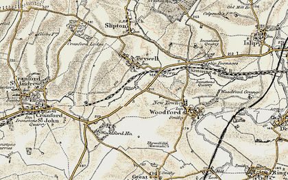 Old map of Woodford Ho in 1901-1902