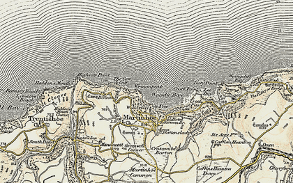 Old map of Woody Bay in 1900