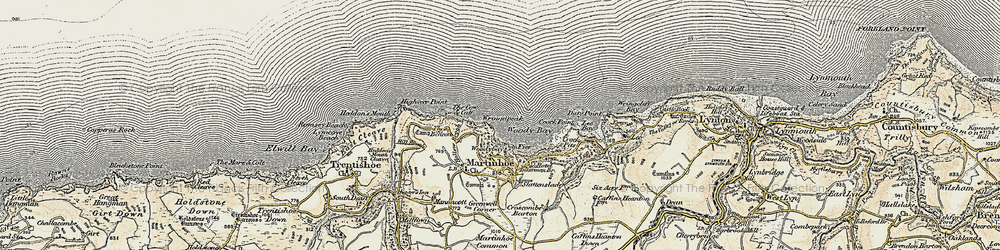 Old map of Wringapeak in 1900