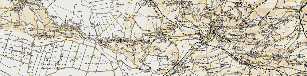 Old map of Wookey in 1899