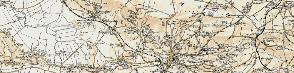 Old map of Wookey Hole in 1899
