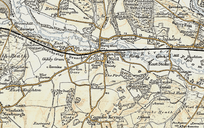 Old map of Wool Br in 1899-1909