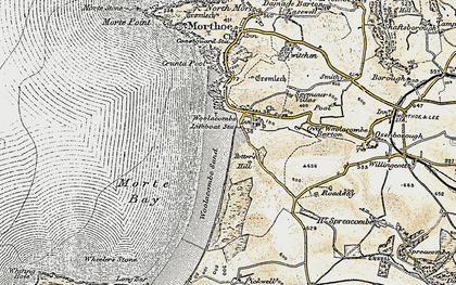 Old map of Woolacombe Down in 1900