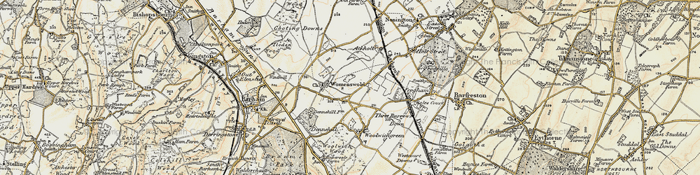 Old map of Woolage Village in 1898-1899
