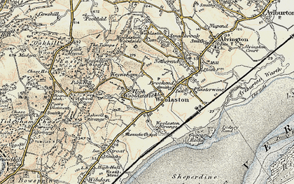Old map of Woolaston in 1899-1900