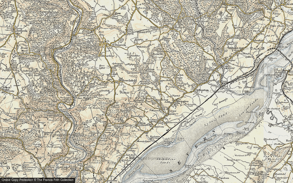 Old Map of Woolaston Common, 1899-1900 in 1899-1900