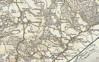 Old map of Woolaston Common in 1899-1900