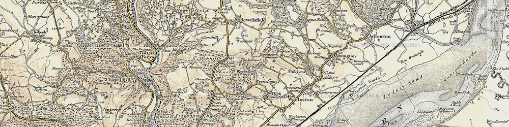 Old map of Woolaston Slade in 1899-1900