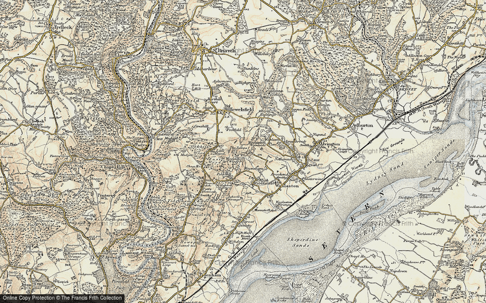 Old Map of Woolaston Woodside, 1899-1900 in 1899-1900