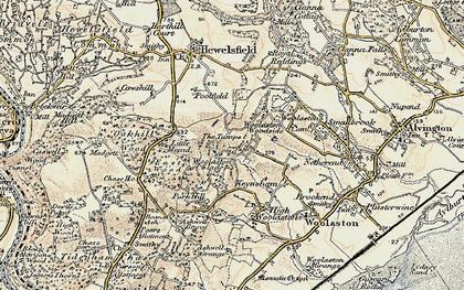 Old map of Woolaston Woodside in 1899-1900