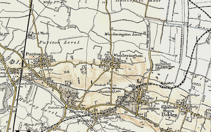Old map of Woolavington in 1898-1900
