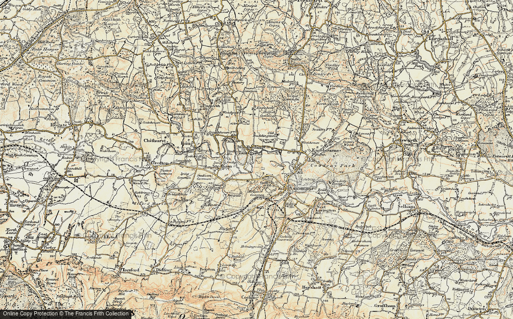 Old Map of Woolbeding, 1897-1900 in 1897-1900