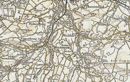 Old map of Wooldale in 1903