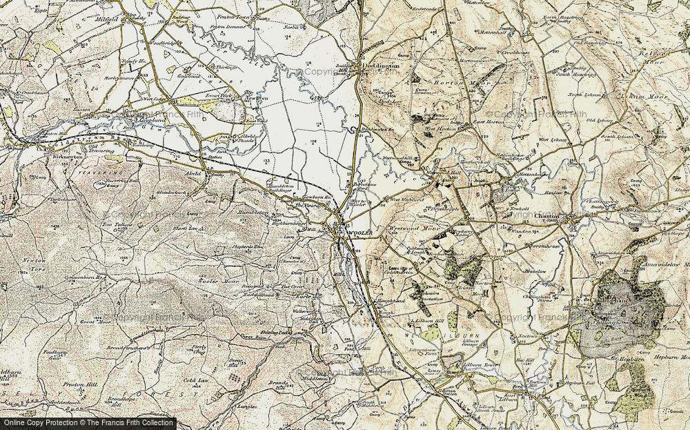Old Map of Wooler, 1901-1903 in 1901-1903