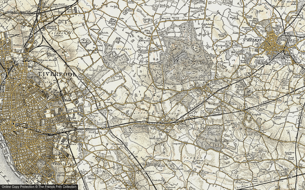 Old Map of Woolfall Heath, 1902-1903 in 1902-1903