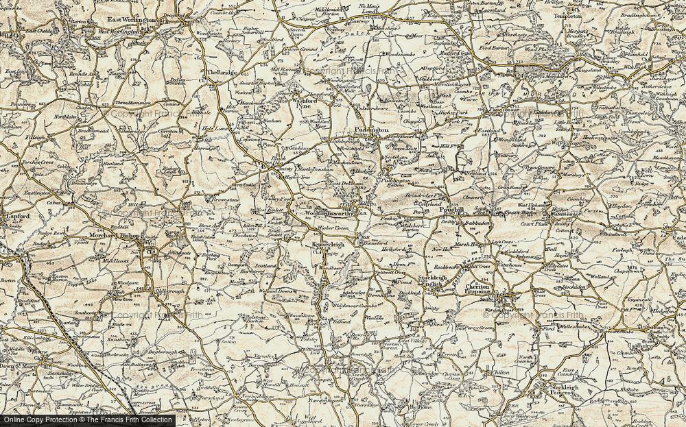 Old Map of Woolfardisworthy, 1899-1900 in 1899-1900