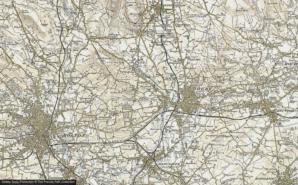 Old Map of Woolfold, 1903 in 1903