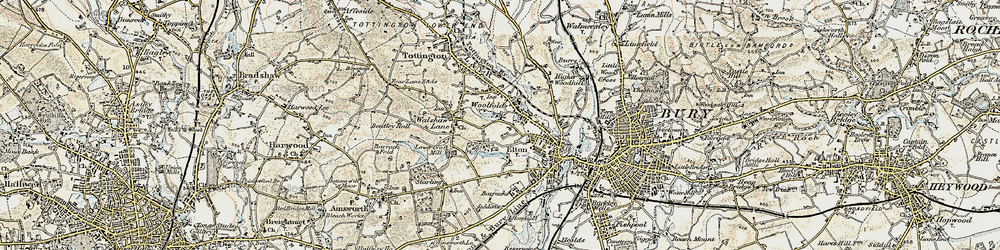 Old map of Woolfold in 1903