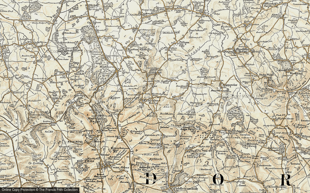 Old Map of Woolford's Water, 1899 in 1899