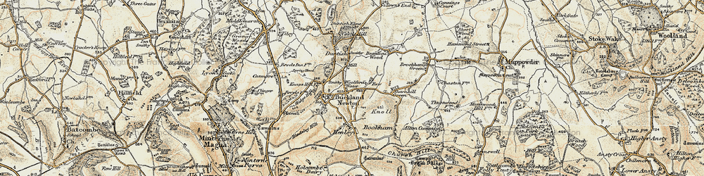 Old map of Woolford's Water in 1899