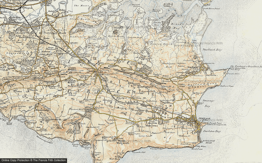 Old Map of Woolgarston, 1899-1909 in 1899-1909