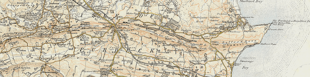 Old map of Woolgarston in 1899-1909