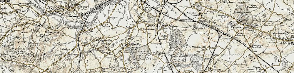 Old map of Woolgreaves in 1903
