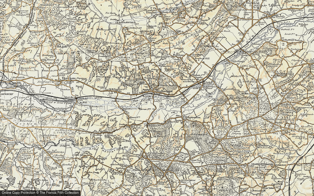 Old Map of Woolhampton, 1897-1900 in 1897-1900