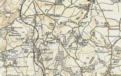 Old map of Woollard in 1899