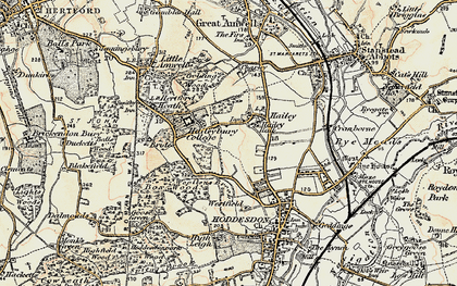 Old map of Woollensbrook in 1898