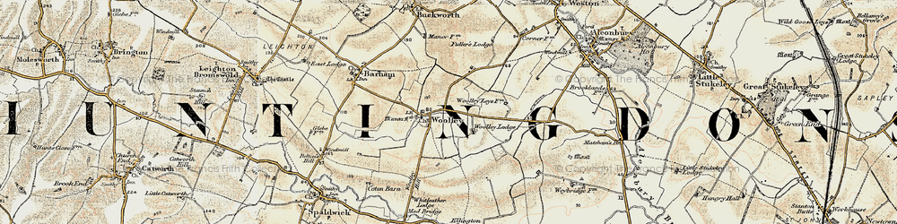 Old map of Woolley Hill in 1901
