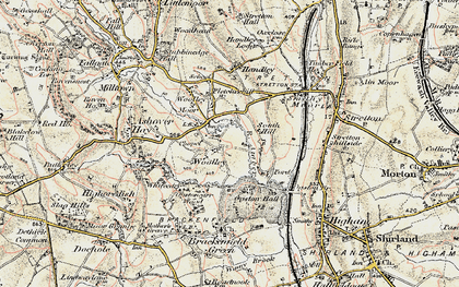 Old map of Woolley in 1902-1903