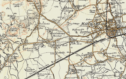 Old map of Woolley Green in 1897-1909