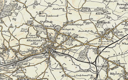 Old map of Woolley Green in 1898-1899