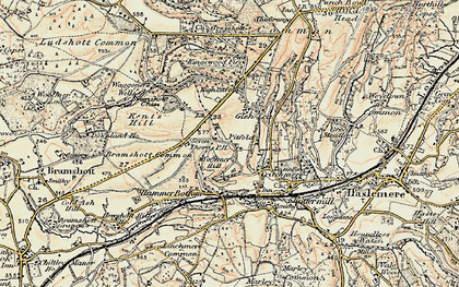 Old map of Woolmer Hill in 1897-1900