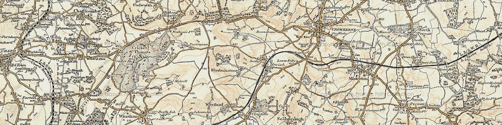 Old map of Woolminstone in 1898-1899