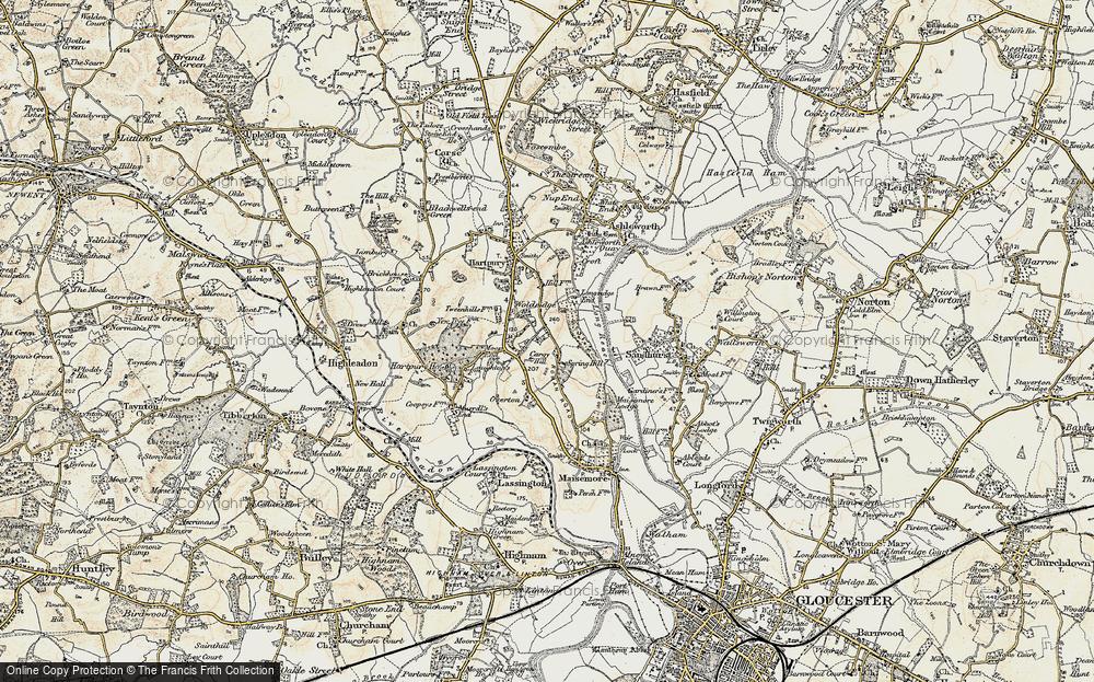 Old Map of Woolridge, 1898-1900 in 1898-1900