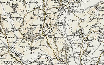 Old map of Woolridge in 1898-1900