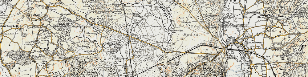 Old map of Woolsbridge in 1897-1909