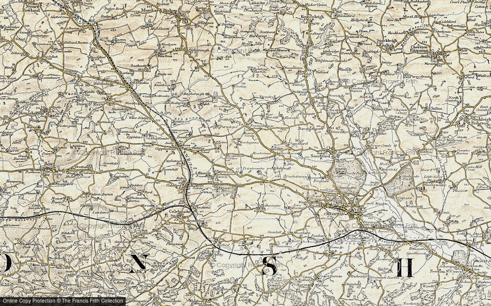 Old Map of Woolsgrove, 1899-1900 in 1899-1900