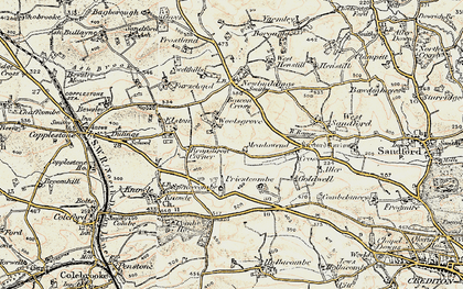 Old map of Woolsgrove in 1899-1900