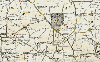 Old map of Woolsington in 1901-1903