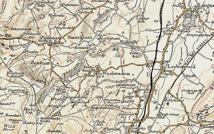 Old map of Woolstaston in 1902-1903