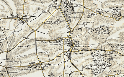 Old map of Woolsthorpe-by-Colsterworth in 1901-1903
