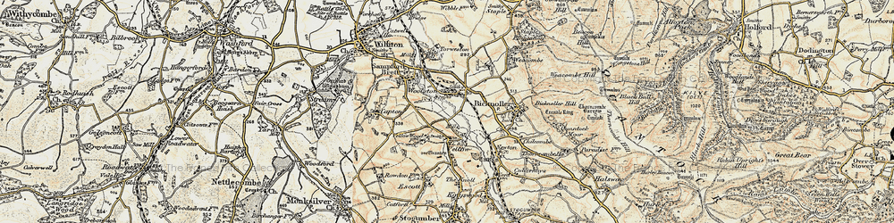 Old map of Woolston in 1898-1900