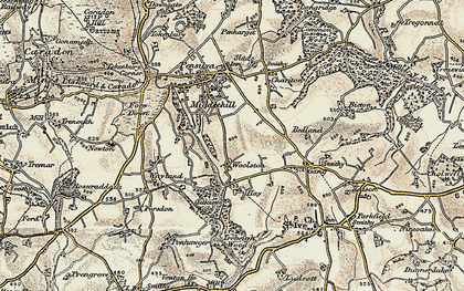 Old map of Woolston in 1900