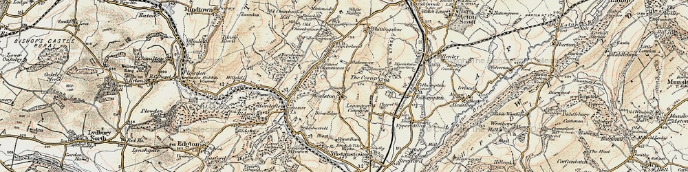 Old map of Woolston in 1902-1903